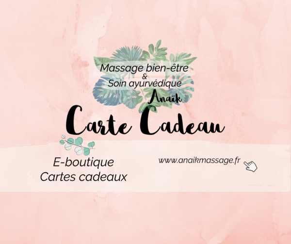 Carte cadeau massage bien être et soin ayurvédique à La Brède Saint Selve Bordeaux